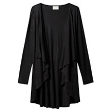 Buy East Linen Jersey Cardigan, Black Online at johnlewis.com