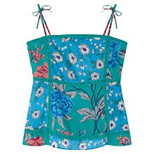 Buy East Francesca Print Camisole, Celadon Online at johnlewis.com
