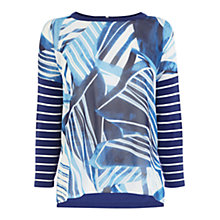 Buy Karen Millen Scarf Print Jumper, Blue Online at johnlewis.com