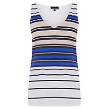 Buy Warehouse Pattern Stripe Satin Vest, Blue Pattern Online at johnlewis.com