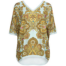 Buy Ted Baker Jewel Paisley Jumper, Light Green Online at johnlewis.com