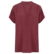 Buy Warehouse Oversized Tunic Top, Dark Red Online at johnlewis.com