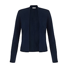 Buy Jigsaw Cotton Flame Jacket, Navy Blue Online at johnlewis.com