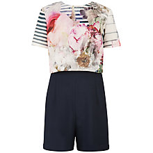 Buy Ted Baker Intia Pure Peony Playsuit, Navy/Multi Online at johnlewis.com