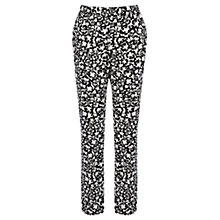 Buy Warehouse Floral Pique Cotton Trousers, Multi Online at johnlewis.com