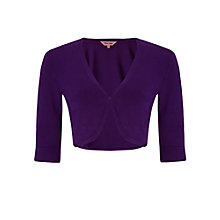 Buy Phase Eight Crop Sleeve Shrug, Violet Online at johnlewis.com