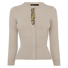 Buy Karen Millen Modern Jewel Cardigan, Stone Online at johnlewis.com