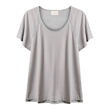 Buy East Silk Back Jersey Top, Smoke Online at johnlewis.com