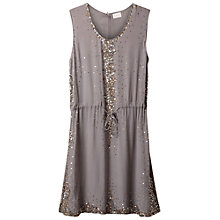 Buy East Sequin Shift Dress, Smoke Online at johnlewis.com