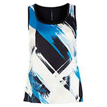 Buy Karen Millen Bold Brushstroke Vest Top, Blue Multi Online at johnlewis.com