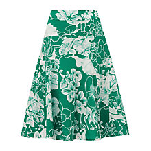 Buy Phase Eight Hibiscus Skirt, Green/Ivory Online at johnlewis.com