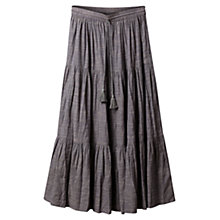 Buy East Crinkle Tiered Skirt, Ash Online at johnlewis.com