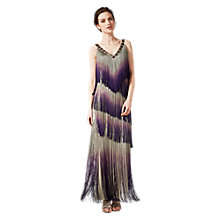 Buy Phase Eight Collection 8 Tina Fringe Dress, Gold/Grape Online at johnlewis.com