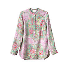 Buy East Linen Kashmir Print Top, Flamingo Online at johnlewis.com