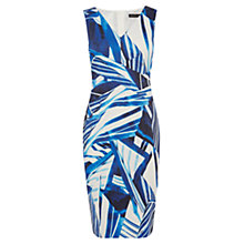 Buy Karen Millen Scarf Print Dress, Blue Online at johnlewis.com