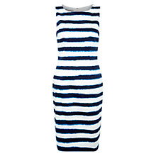 Buy Hobbs Anya Stripe Dress, Ivory / Ink Online at johnlewis.com
