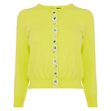 Buy Karen Millen 3D Flower Cardigan, Lime Online at johnlewis.com