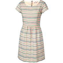 Buy Fat Face Jacquard Stripe Dress, Multi Online at johnlewis.com