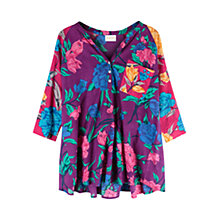 Buy East Francesca Print Shirt, Plum/Multi Online at johnlewis.com