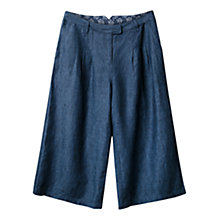 Buy East X Dye Culotte Trousers, Navy Online at johnlewis.com