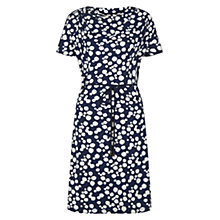 Buy Hobbs Ink Spot Print Dress, Navy / Ivory Online at johnlewis.com