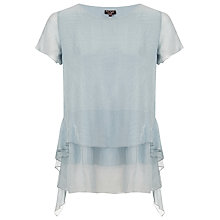 Buy Phase Eight Pixie Tiered Silk Blouse, Silver Online at johnlewis.com