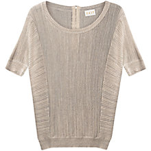 Buy East Ladder Stitch Jumper, Silver Online at johnlewis.com
