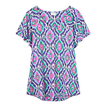 Buy East Ikat Print Jersey Top, Plum Online at johnlewis.com