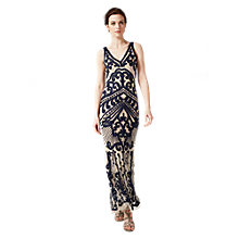 Buy Phase Eight Collection 8 Sybil Tapework Dress, Navy/Taupe Online at johnlewis.com