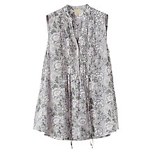Buy East Gracie Pintuck Blouse, Smoke Online at johnlewis.com