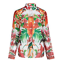 Buy Ted Baker Tamir Tropical Toucan Shirt, White Online at johnlewis.com