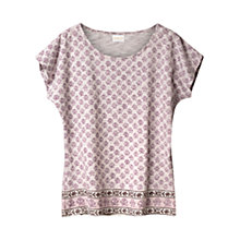 Buy East Border Print Jersey Top, Wisteria Online at johnlewis.com