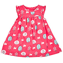 Buy John Lewis Baby's Rabbit Print Cord Dress, Pink Online at johnlewis.com