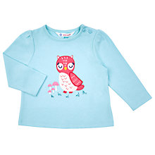 Buy John Lewis Baby's Long Sleeve Owl T-Shirt, Blue Online at johnlewis.com