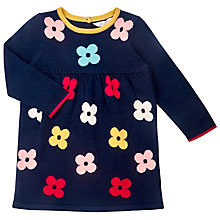 Buy John Lewis Flower Knit Dress, Navy Online at johnlewis.com