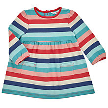 Buy John Lewis Baby's Striped Jersey Dress, Navy Online at johnlewis.com