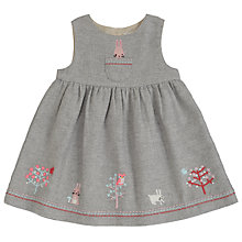 Buy John Lewis Baby's Rabbit Tweed Pinafore Dress, Grey Online at johnlewis.com