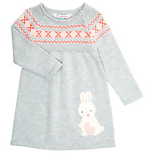 Buy John Lewis Baby's Rabbit Fairisle Knit Dress, Grey Online at johnlewis.com