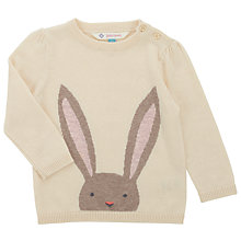 Buy John Lewis Baby's Rabbit Jumper, Cream Online at johnlewis.com