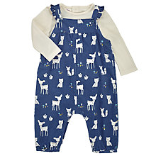 Buy John Lewis Baby's Cord Dungarees and T-Shirt, Navy Online at johnlewis.com