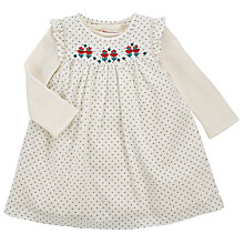 Buy John Lewis Baby's Cross Print Pinafore and T-Shirt Set Online at johnlewis.com