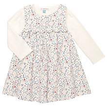 Buy John Lewis Baby's Ditsy Cord Pinafore and T-Shirt Set, White/Multi Online at johnlewis.com