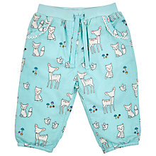 Buy John Lewis Baby's Animal Corduroy Trousers, Blue Online at johnlewis.com