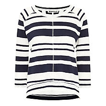 Buy Whistles Holly Stripe Linen Top, Blue/White Online at johnlewis.com