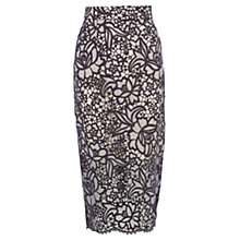 Buy Coast Sky Lace Flower Midi Skirt, Grey Online at johnlewis.com