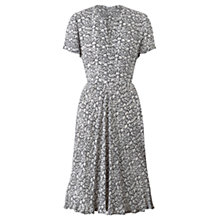Buy Jigsaw Morning Dew Tea Dress, Navy Online at johnlewis.com