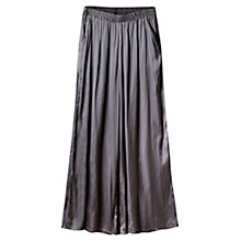 Buy East Satin Palazzo Pants, Slate Online at johnlewis.com