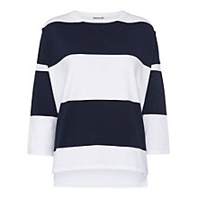 Buy Whistles Striped Oversized Top, Navy/White Online at johnlewis.com