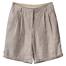 Buy East Linen Stripe Shorts, Navy Online at johnlewis.com