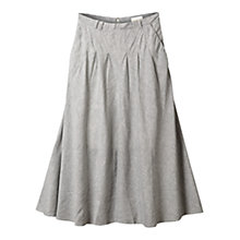 Buy East Longline Flared Skirt, Navy Online at johnlewis.com
